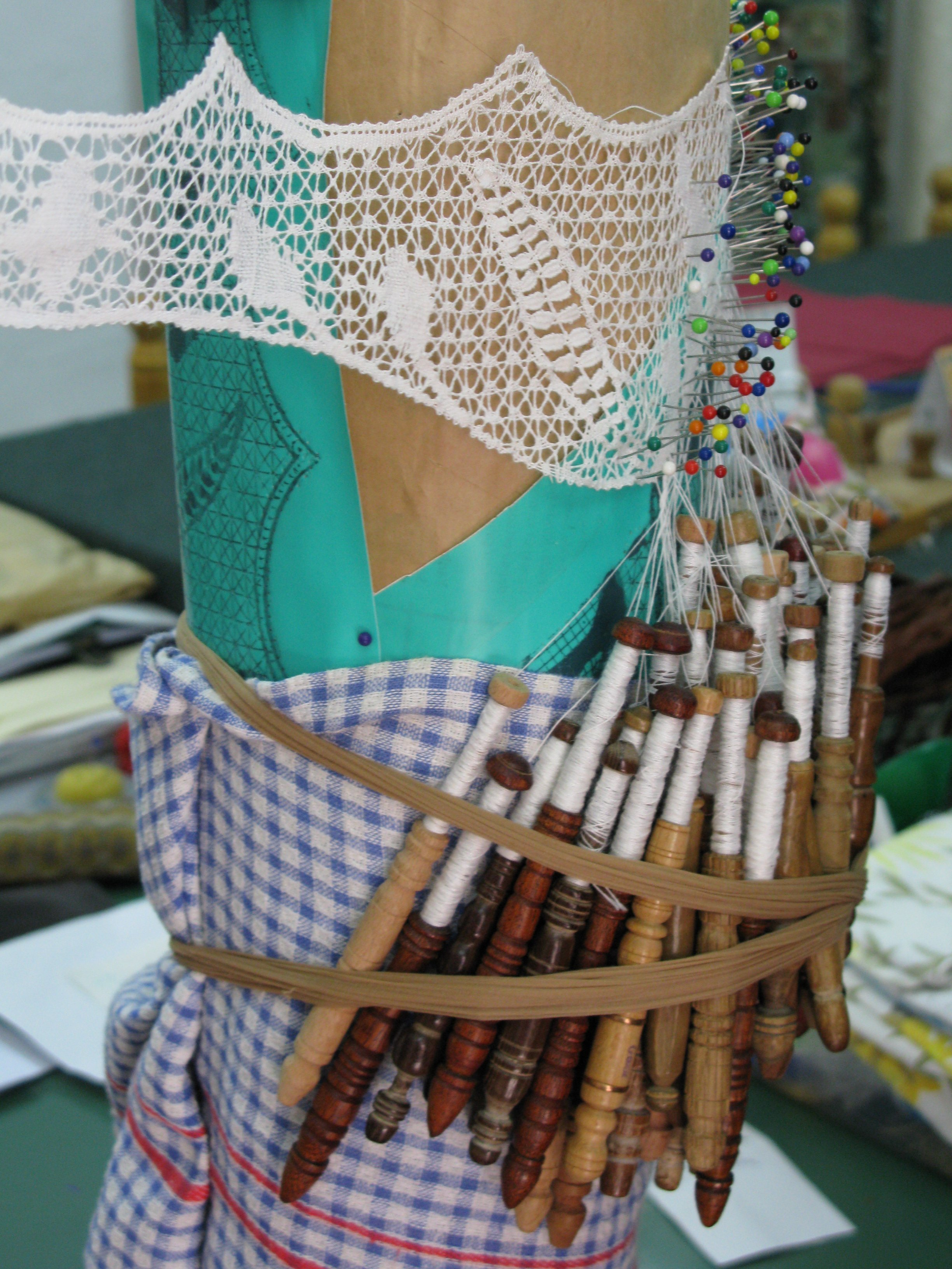 Maltese lace bobbins