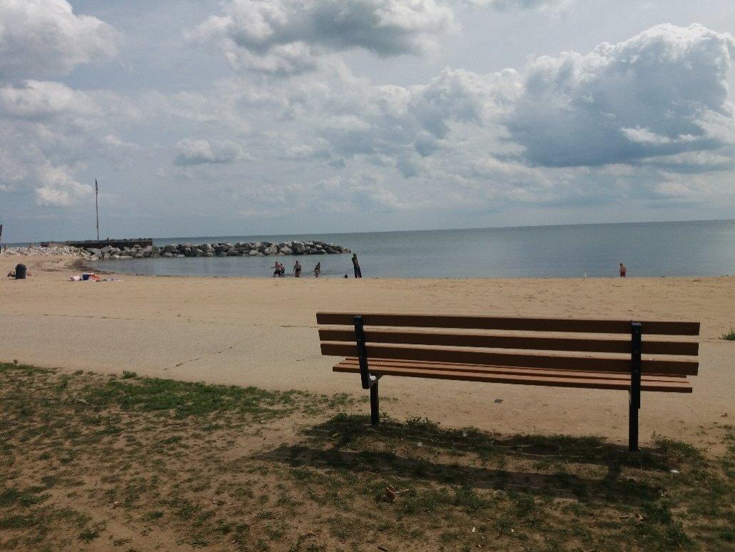 The beach at Lake Michigan Milwaukee