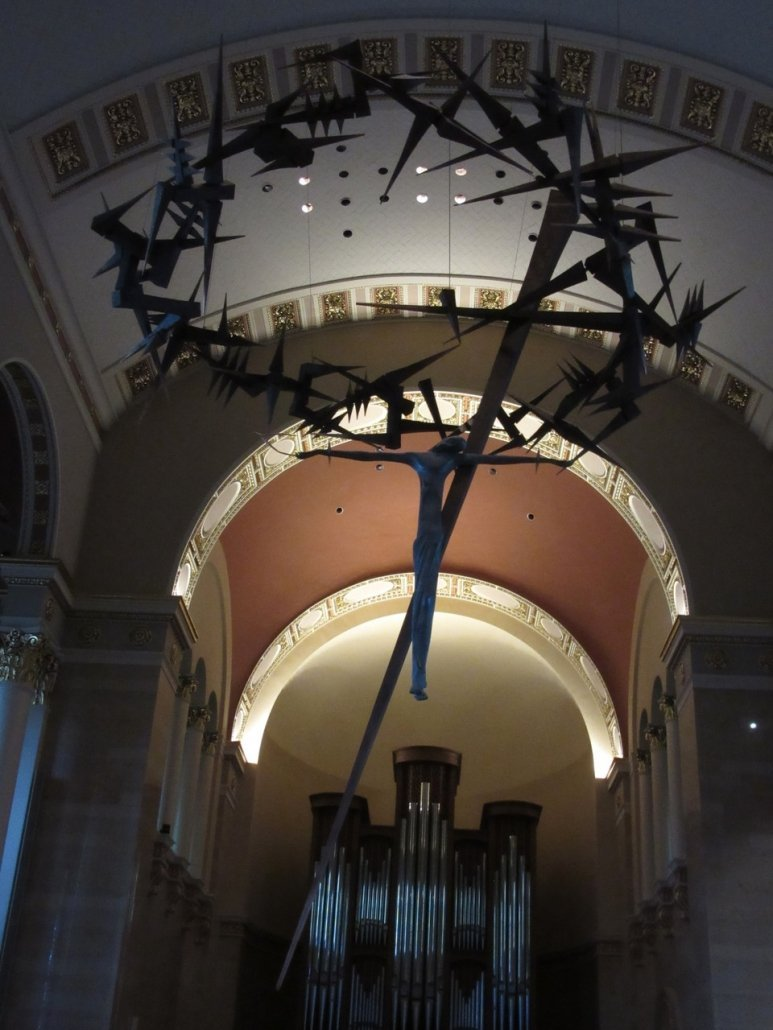 controversial crucifix at the Cathedral in Milwaukee